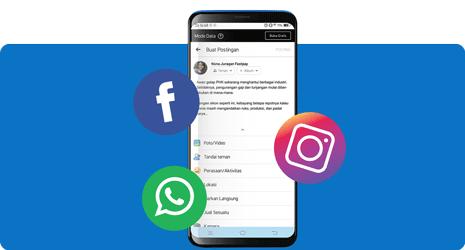 Aktif Update Status Social Media