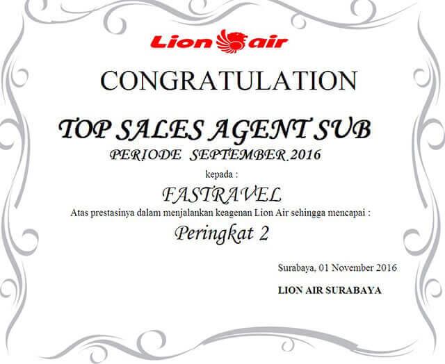 award lion air sentra bisnis fastpay