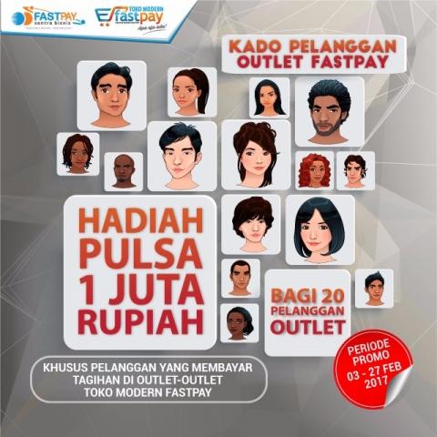 Kado khusus pelanggan outlet berhadiah pulsa total Rp1 juta