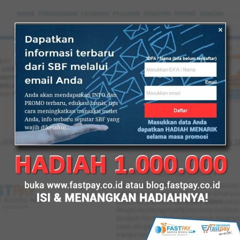Dapatkan info terbaru SBF melalui email Anda berhadiah total Rp1 juta