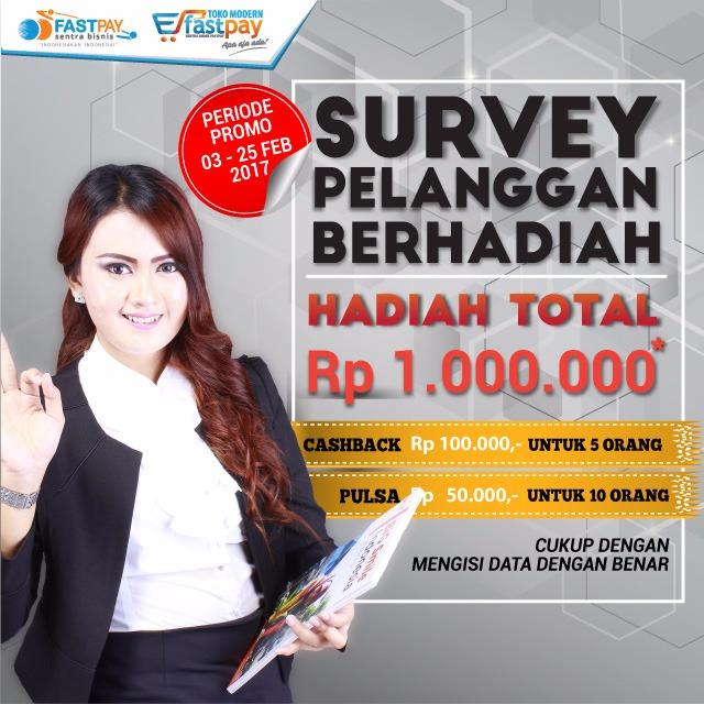 Ikuti survey pelanggan berhadiah total Rp1 juta