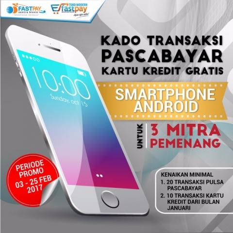 Promo trx HP pascabayar & kartu kredit berhadiah smartphone Android
