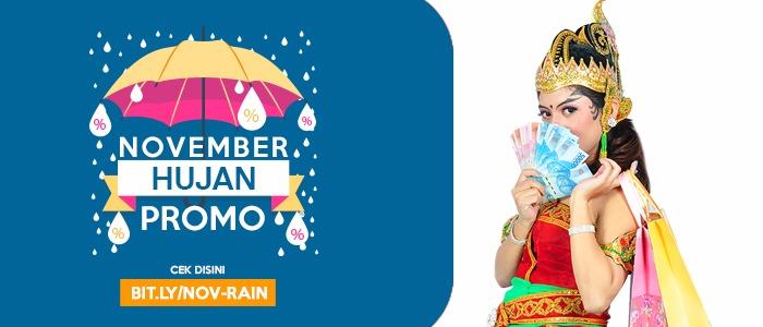 November Rain! Musimnya Hujan Promo, Makin Meriah Hadiahnya!