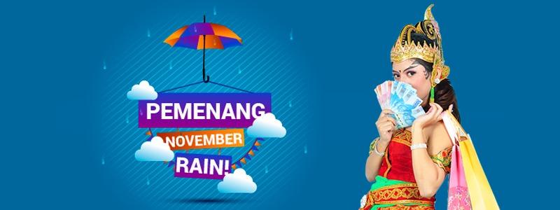 PEMENANG Program November Rain !