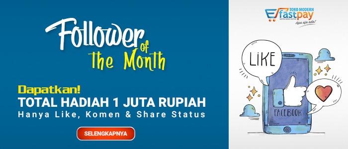 Like Komen & Share Status di Sosial Media Fastpay Berhadiah 1 JUTA Rupiah!