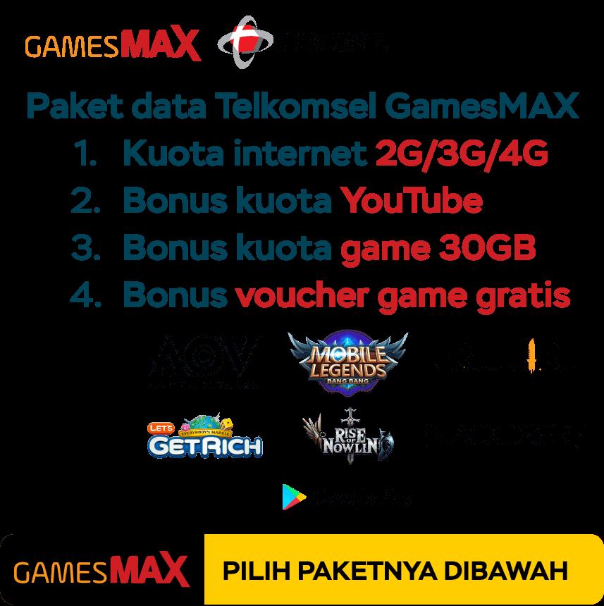 paket internet telkomsel gamesmax di