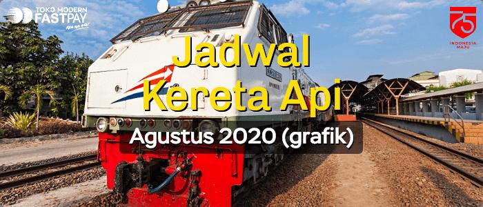 Jadwal Kereta Api Agustus 2020 (Grafik)