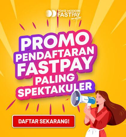 Promo Pendaftaran Fastpay Gratis
