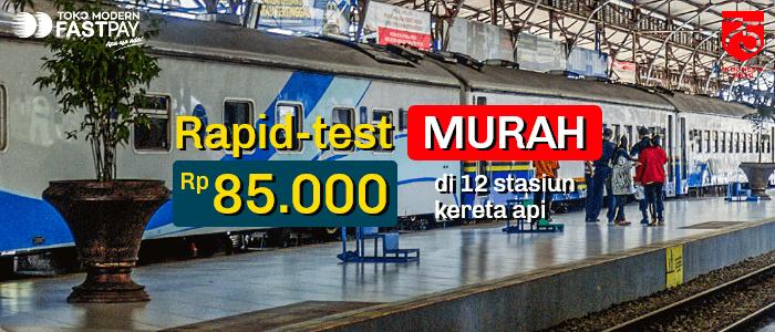 Daftar Stasiun Kereta Api Tempat Rapid Test Covid-19 Murah
