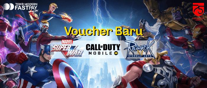 Voucher Marvel Super War, Coin Ragnarok dan Call Of Duty CP di Fastpay