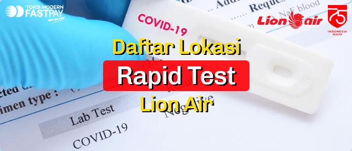 lokasi rapid test Lion Air