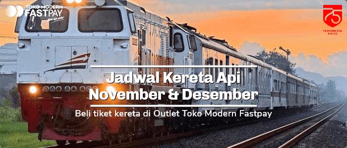 jadwal kereta api november desember