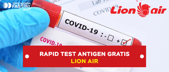 rapid antigen gratis lion air