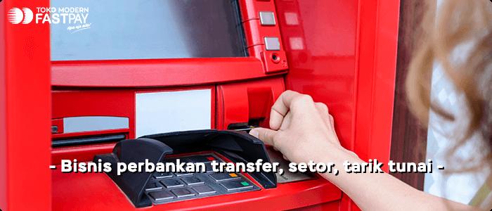 bisnis perbankan transfer bank, setor tunai, tarik tunai