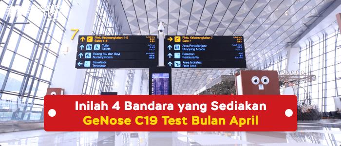 GeNose test di bandara Kualanamu, Husein Sastranegara, YIA dan Juanda