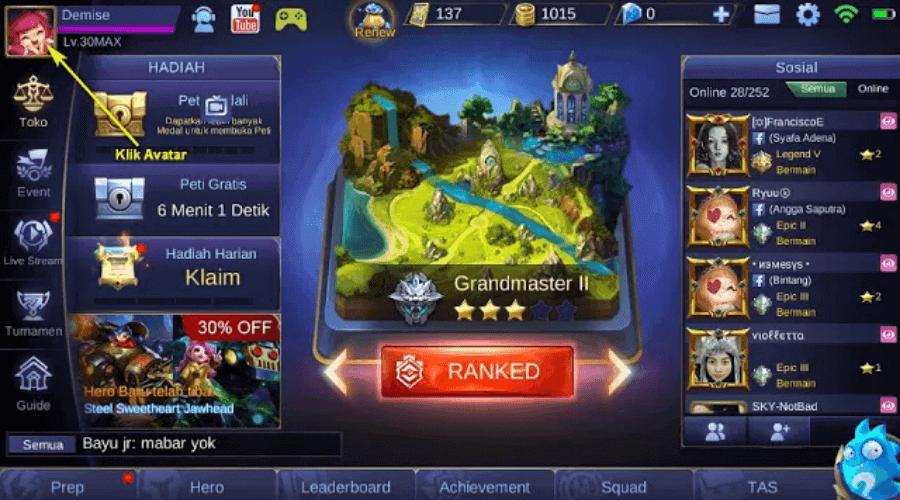 profil mobile legends