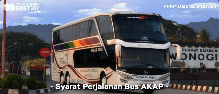Syarat naik bus AKAP PPKM Darurat