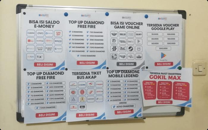 Alat Promosi Bisnis Fastpay Siap Cetak Poster A4 (Update)