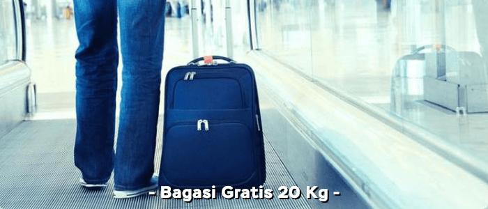 Gratis bagasi 20 Kg Super Air Jet
