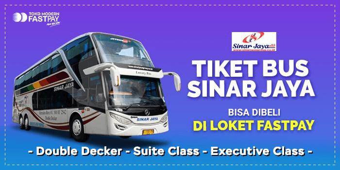 Tiket double decker Sinar Jaya Fastpay