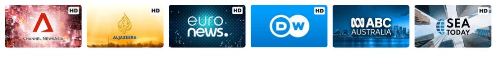 Channel TV Berita Luar Negeri Vidio