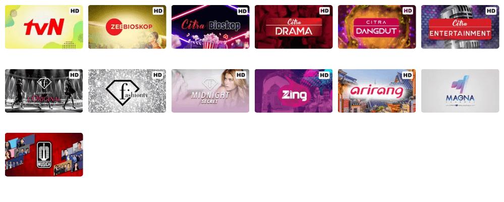 Channel TV Hiburan Vidio