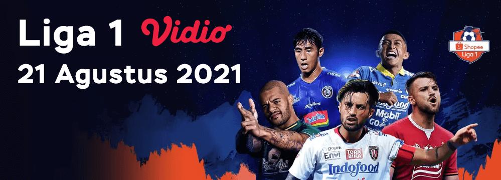 Liga 1 di Vidio mulai 21 Agustus 2021