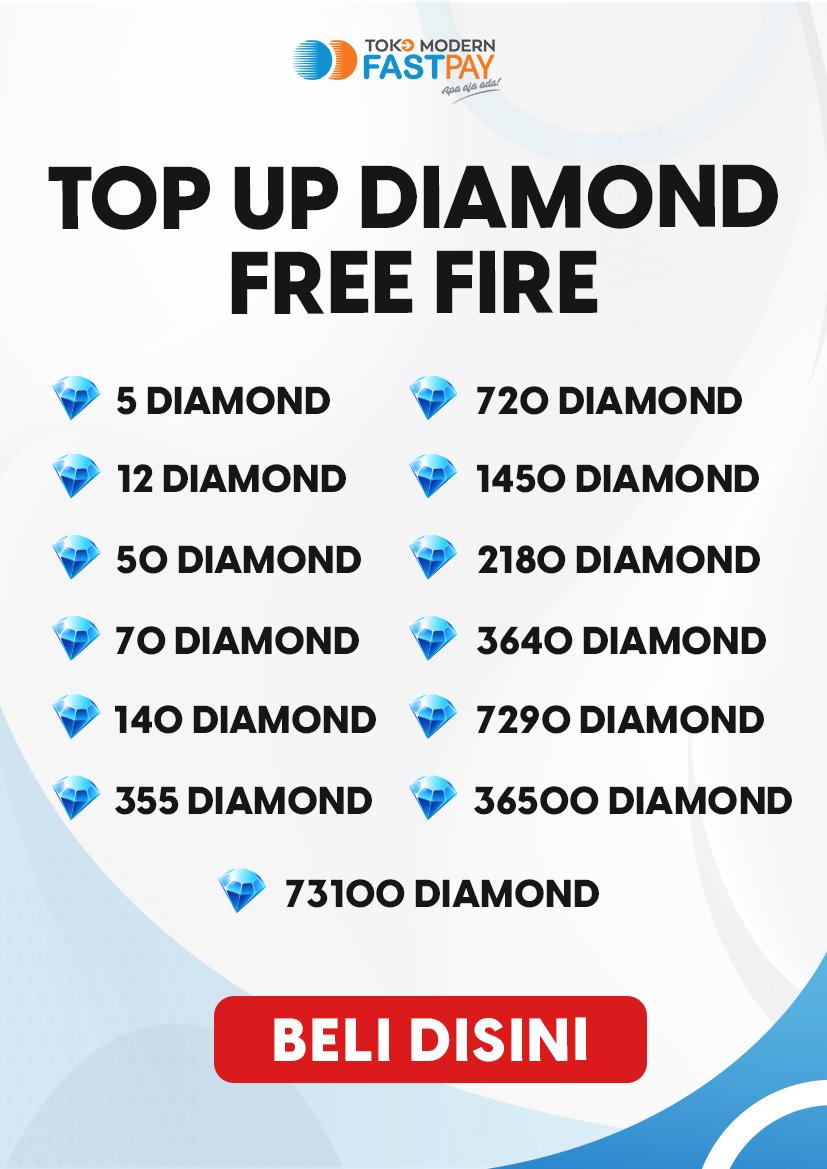 Alat promo top up diamond FF