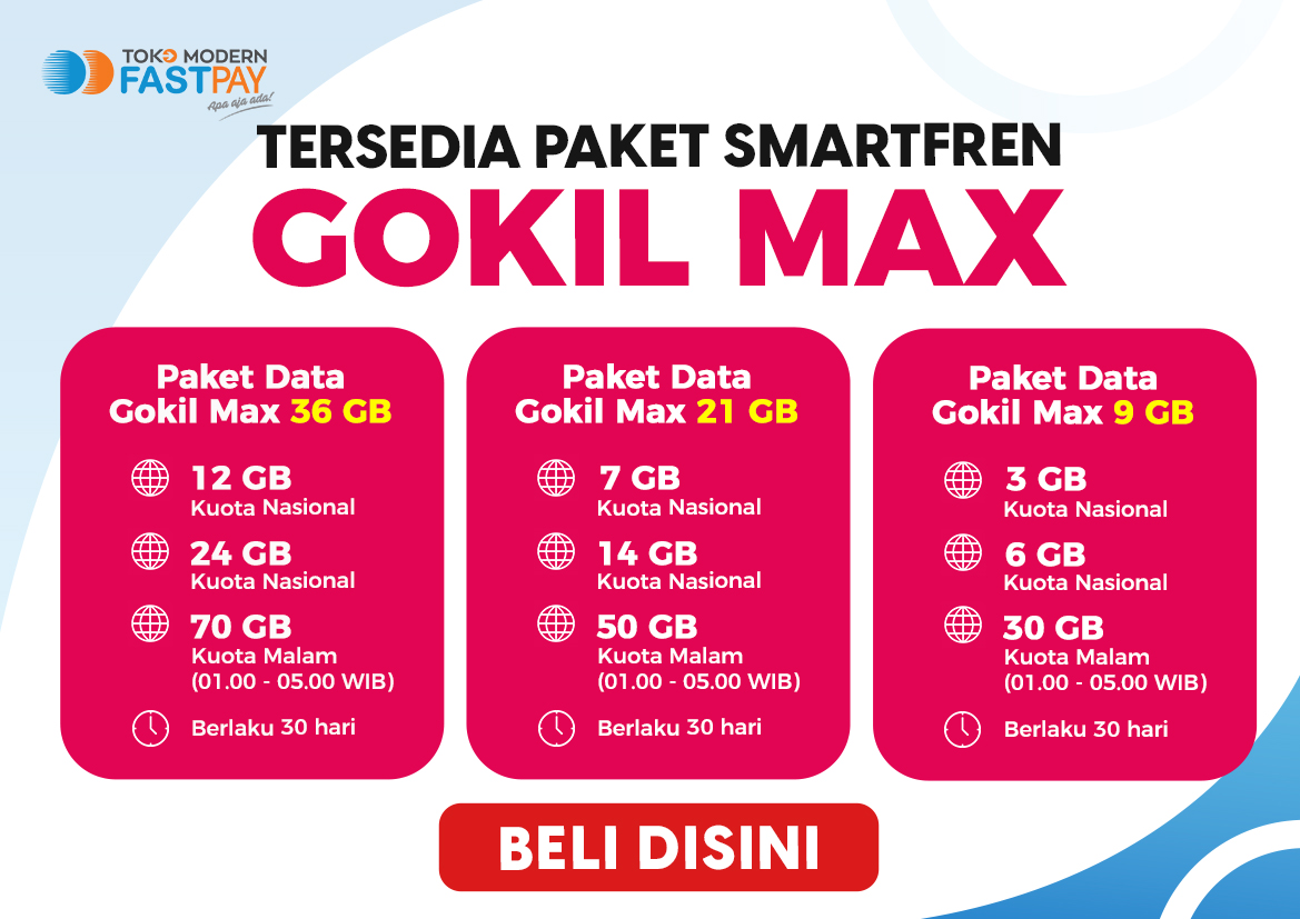 Alat promo Smartfren GOKIL MAX