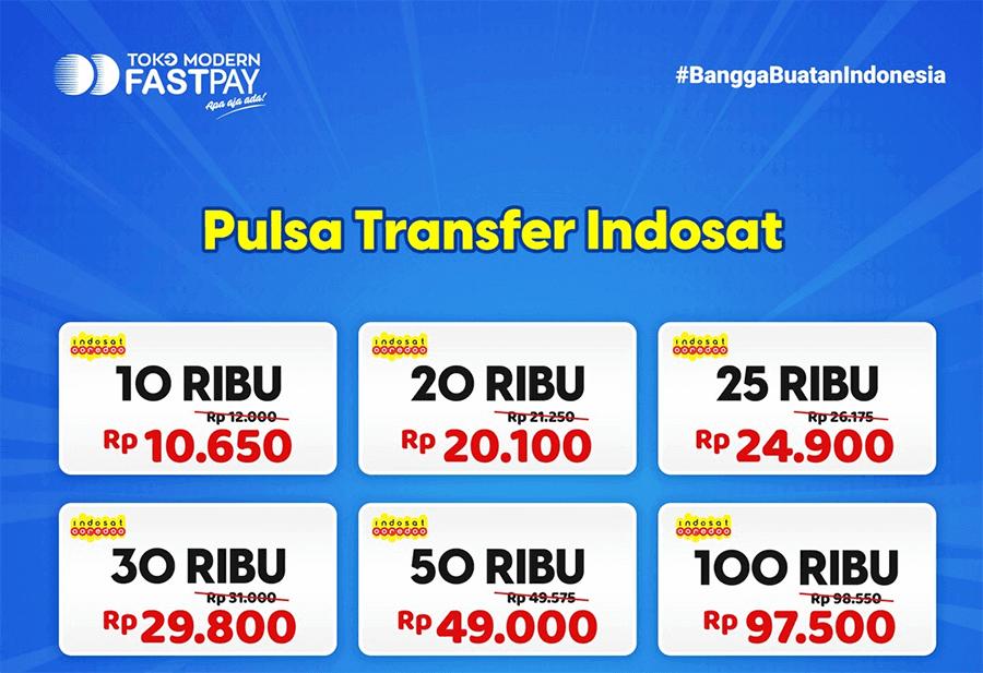 Pulsa transfer Indosat murah Fastpay