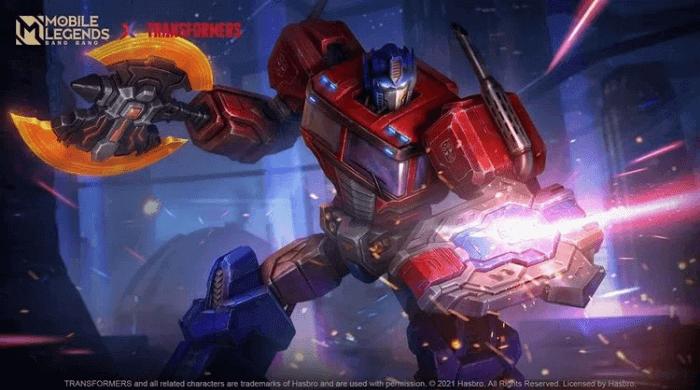 Skin Optimus Prime MLBB X Transformers