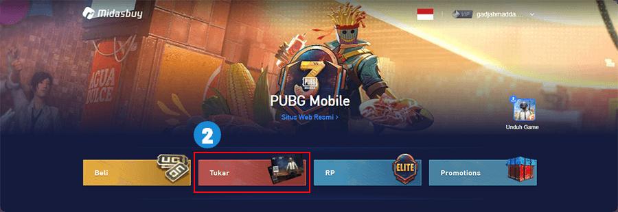 Tukar voucher PUBG Mobile