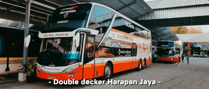 Bus AKAP double decker Harapan Jaya