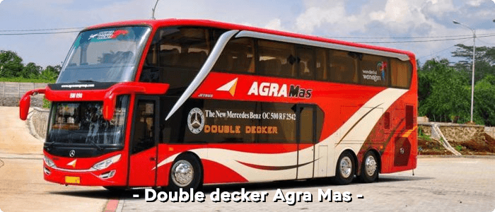 Bus AKAP double decker Agra Mas