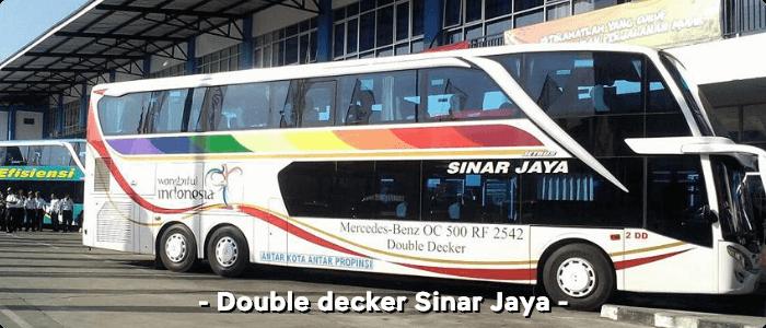 Bus AKAP double decker Sinar Jaya