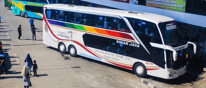 6 Bus AKAP Double Decker Lewat Tol Trans Jawa di Fastpay